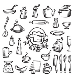Kitchenware set vector