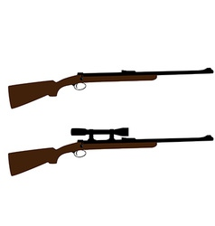 Hunting and sniper rifle vector