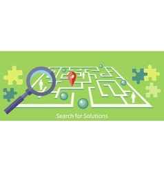 Search for solution maze vector