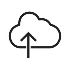 Cloud with upward arrow vector