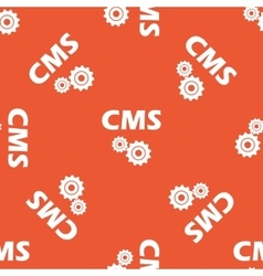 Orange cms settings pattern vector