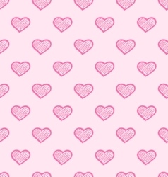 Abstract seamless hearts romantic background vector