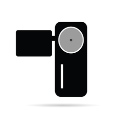 Camera in black vector