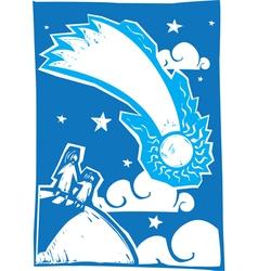 Blue Comet vector image