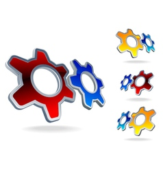 Gear cog logo vector
