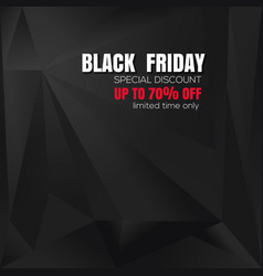 Abstract black background for black friday vector