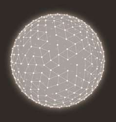 abstract glowing mesh sphere vector image