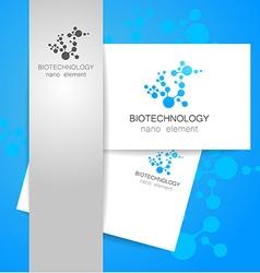 biotechnology logo vector image vector image