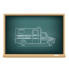 board ambulance vector image vector image