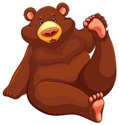 Brown bear sitting down vector