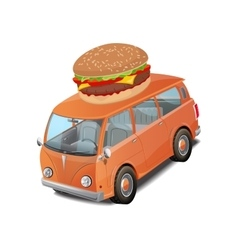 Car burger fast food vector image vector image