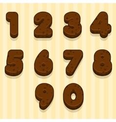 Cartoon chocolate cookie font biskvit figures vector