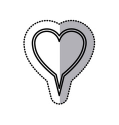 Chat bubble heart icon stock vector