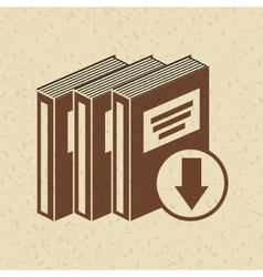 E-book download design vector