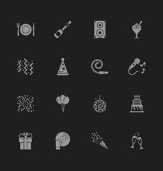 events - flat icons vector image vector image