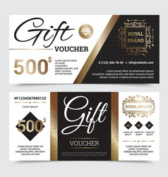 gift coupon royal design vector image