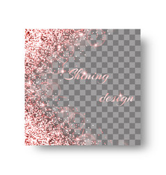 glittering pink background vector image vector image