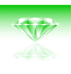Green diamond vector