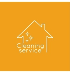 Icon cleaning services vector image