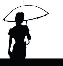 lady with umbrella vector image vector image