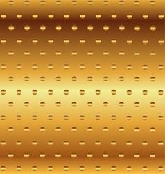 Metallic gold decorative background vector