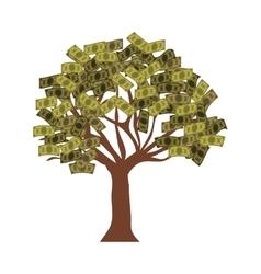 Money bills tree vector