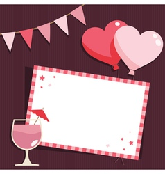 pink party card vector image vector image