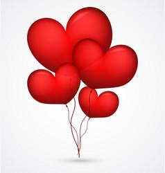 red balloon heart shape vector image