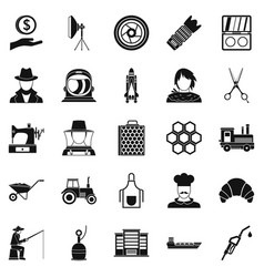 repair service icons set simple style vector image vector image