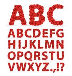 Roses font vector