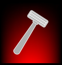 Safety razor sign postage stamp or old photo vector