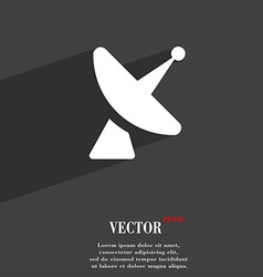 Satellite dish icon symbol Flat modern web design vector image