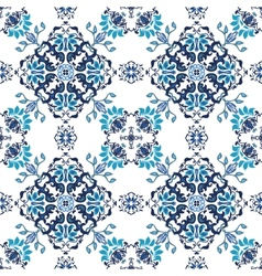 Seamless abstract floral pattern for fabric vector image vector image