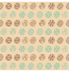 Seamless pattern with irish geometric ornament vector
