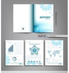 Templates for business reports advertising vector