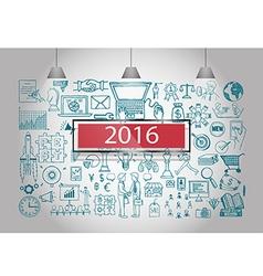 web marketing 2016 vector image
