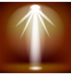White spotlight background vector