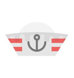 Yacht captain cap vector