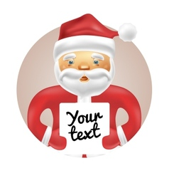 Santa with banner vector