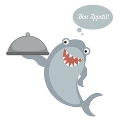 Cooking shark chef vector image