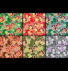 barberry pattern set vector image