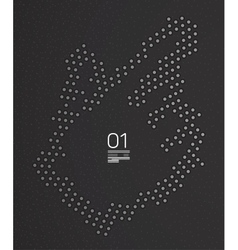 Hand technology modern template vector