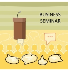 Business seminar concept vector