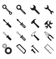 Construction tool icons collection vector