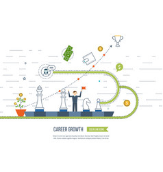 Career growth selecting candidates finance vector