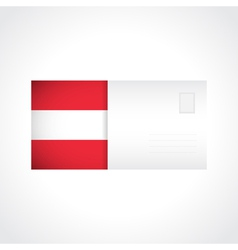 Envelope with austrian flag card vector