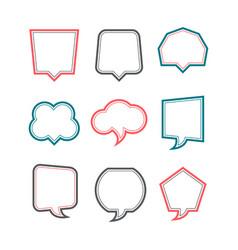 colored speech bubbles set vector image