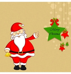 Santa with christmas decoration vector