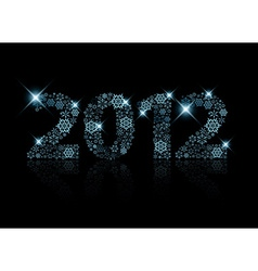 2012 made from blue snowflakes vector