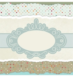 Vintage card template with copy space eps 8 vector